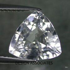 NATURAL WHITE SAPPHIRE 6 MM TRILLION CUT DIAMOND COLOR