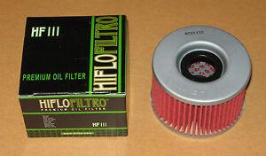 Oil Filter For 1983 Honda CX650T Turbo Street Motorcycle~Hiflofiltro HF111