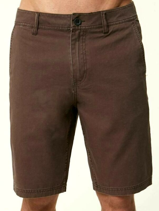 O'neill Jay Chino Uomo 100% Cotone Chino Stile Pantaloncini 32 Caffè Nuovo