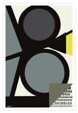 Cuban movie Poster 4 film.DIEZ Cinema proyector graphic design.theater Camera