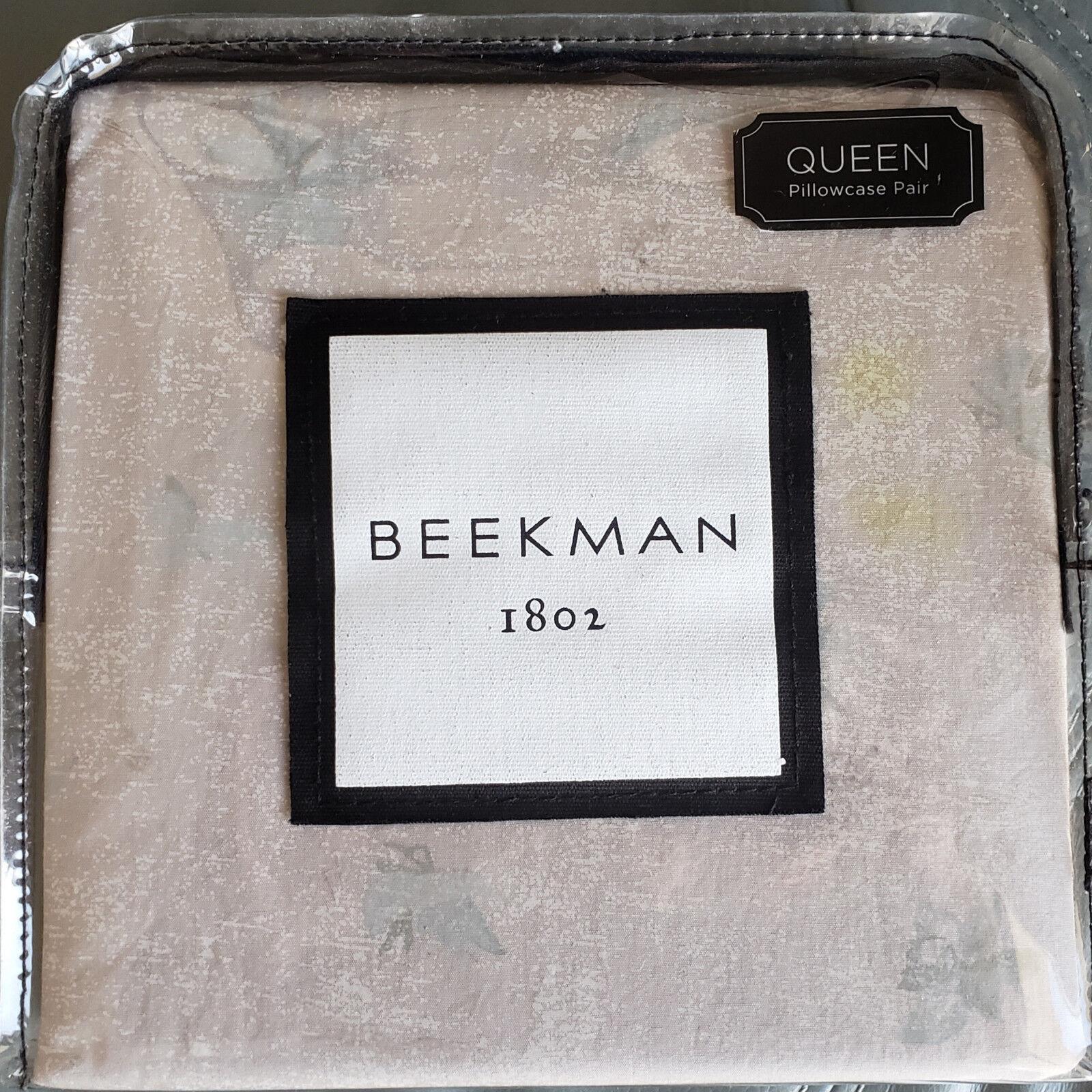 Beekman 1802 Minetto Queen Pillowcase Pair New