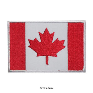Canada-National-Flag-Embroidered-Patch-Iron-on-Sew-On-Badge-For-Clothes-etc
