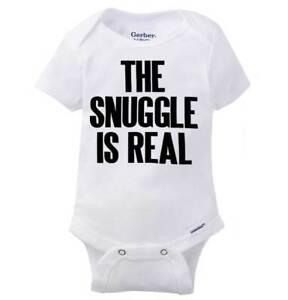 Snuggle Struggle Is Real Gerber Onesie | Funny Cute Cuddle Hug Baby Romper