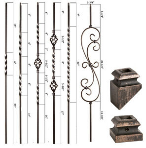 Oil Rubbed Bronze Twist Basket Iron Balusters Hollow Wrought