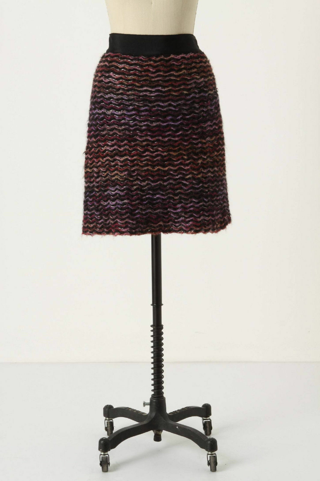 Anthropologie Skirt Pencil Sweater purple Vibrations By Knitted & Knotted Size 2