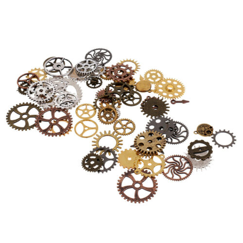 100g Steampunk Gear Pendants DIY Jewelry Handmade for Necklace Chain 10-40mm