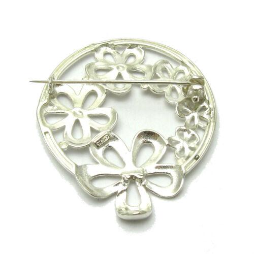 Sterling Silver Brooch Flowers Solid Genuine Stamped 925 Empress Nickel Free