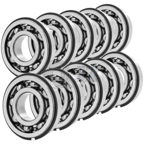 10x 5205 open Double Row Ball Bearing 25mm x 52mm x 20.6mm  w// Snap Ring