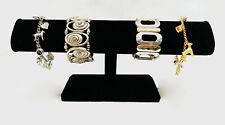 Black Velvet Bracelet Watch T Bar Stand One Tier Sturdy Jewelry Display