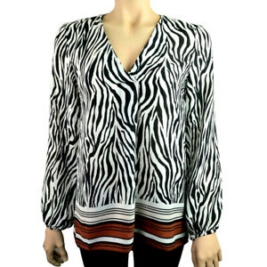 Ex-Debenhams-Imprime-Zebre-Femme-Noir-Blanc-Tailles-10-24