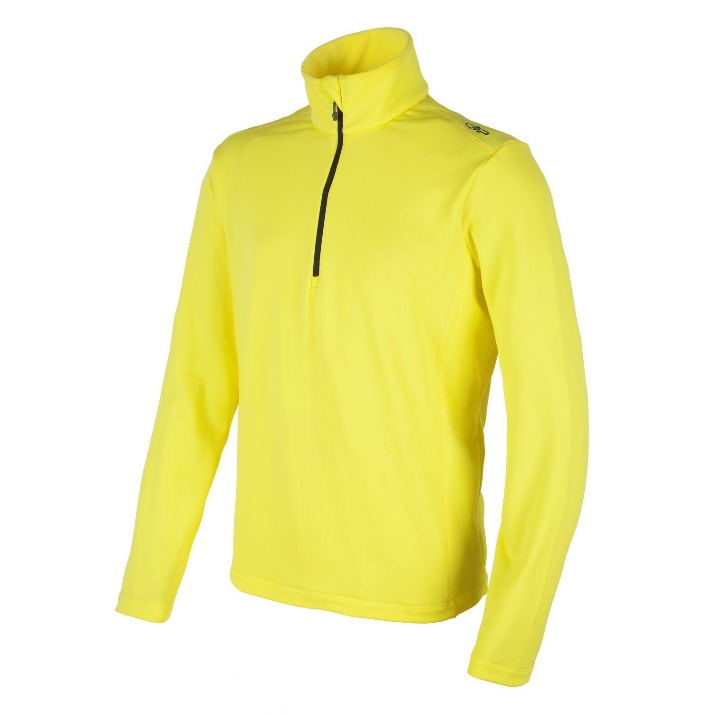 CMP fleecepullover funzione funzione funzione Pullover Colletto Camicia Giallo Half-Zip Stretch b55b6b