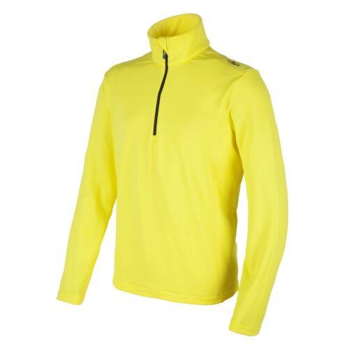 CMP Fleecepullover Funktionspullover Kragenshirt gelb Half-Zip Stretch