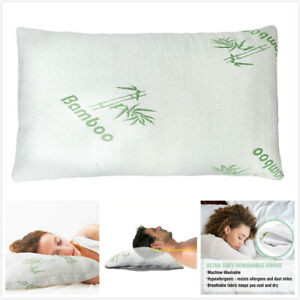 1pcs Premium Firm Hypoallergenic Bamboo Fiber Memory Foam Pillow King//Queen