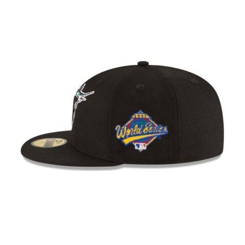 Florida Marlins New Era MLB18 1997 World Series Side Patch 59Fifty Wool Gray UV