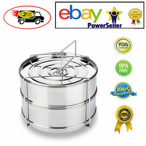 Stackable Insert Pan Stainless Cooking Accessories 6-8 Quart fits Instant Pot