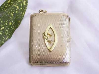 Intellektuell Visitenkarten-gelbgold-etui: Medaillon / Foto-anhÄnger: 375er Gold / 2 Diamanten In Den Spezifikationen VervollstäNdigen