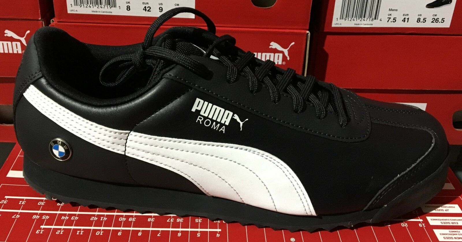 PUMA BMW MMS Roma  Men's Running Casual Sneakers Anthracite White  306195 01  L