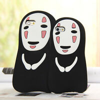 Ghibli Spirited Away No Face Man 3D Cartoon Soft Silicone Case Cover For iPhone