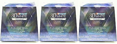Crest 3D White Luxe Whitestrips Whitening Professional Effects 40strips 3 Boxes