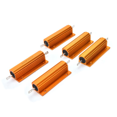 Details about  /1//2//4//8//10 Ohm 100W Watt Shell Power Aluminum Housed Case Wirewound ResistorSXB