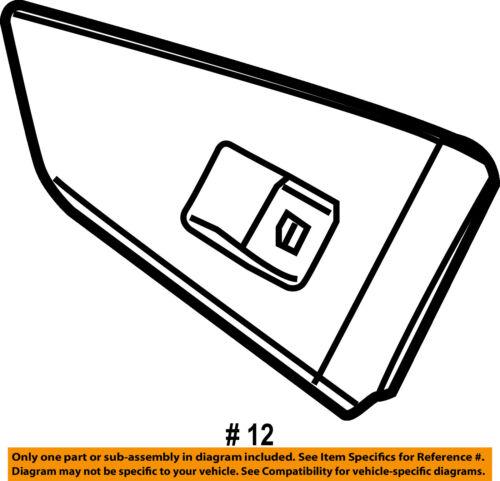BMW OEM 04-05 645Ci Door-Window Switch 61316922249