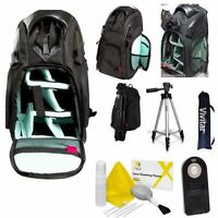 50 Pro Tripod + Large Backpack Case + Remote For Canon Eos Rebel T3 T5 T6 T5i