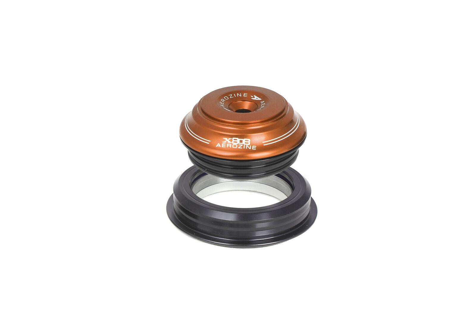 Aerozine XH808C Road  Mountain Cycling Bike Tapered Internal Headset 55mm orange  team promotions