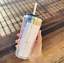 thumbnail 3 - New-Starbucks-Holiday-2020-Iridescent-Glass-18oz-Cold-Cup-Tumbler-Straw