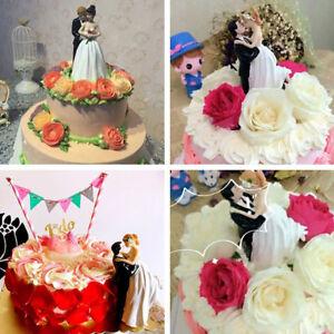 Wedding-Cake-Couple-Figurine-Topper-Bride-Groom-Resin-western-style-decor