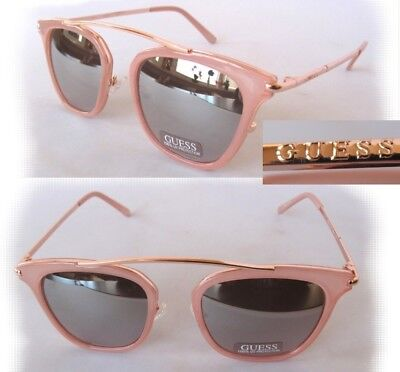 New GUESS GF0328 Brown-Gold//Brown Womens Sunglasses tiny defect
