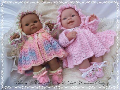 "Babydoll Handknit Designs Knitting Pattern ll1 14/"" Lotti per Amore berenguer doll"