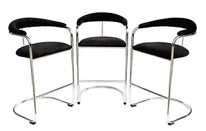 Amazing Details About Vintage Set Of 3 Anton Lorenz For Thonet Ss33 Chrome Cantilever Bar Stools 80S Pdpeps Interior Chair Design Pdpepsorg
