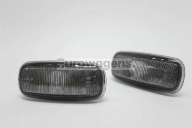 Audi A2 00-05 Smoked Side Indicators Repeaters Pair Set Driver Passenger