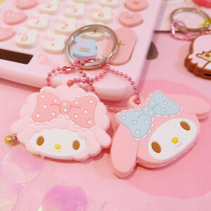 Cute-My-Melody-Key-Cap-Case-Cover-Keychain-Keyring-Girl-039-s-Gift