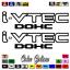 """thumbnail 14 - (2)x i-VTEC DOHC ivtec 11"""" emblem Vinyl Sticker Honda Civic Decal JDM drift 006"""