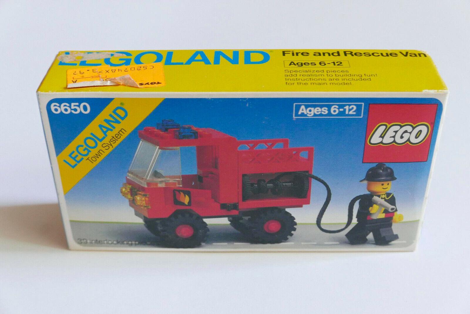 LEGO Legoland  System Town 6650 Fire and Rescue Van nouveau Sealed RARE Vintage  assurance qualité
