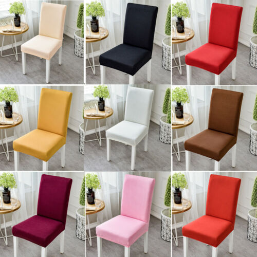 Removable Stretch Chair Seat Cover Dinner Room Seat Elastic Slipcovers Protector