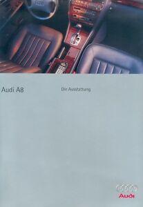 Nachdenklich Audi A8 Ausstattung Prospekt 5/95 1995 Brochure Autoprospekt Prospectus Catalog Kataloge & Prospekte
