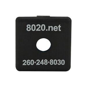 80-20-Inc-10-Series-Black-ABS-Plastic-End-Cap-w-Fastener-for-1010-2015-N