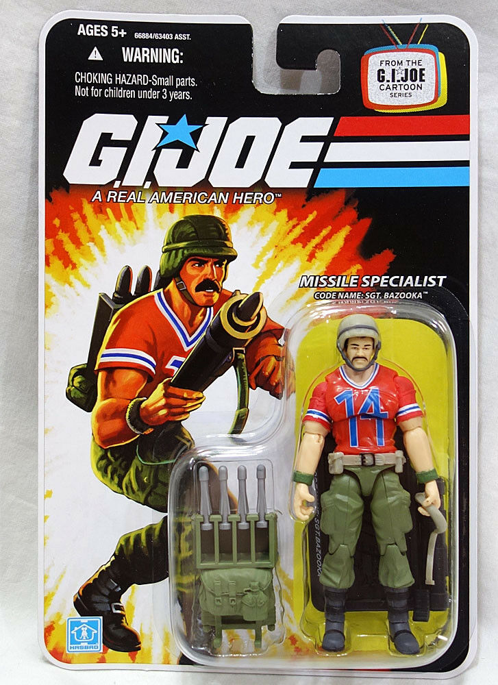 GI Joe 2008 Cartoon Series 3 3 4  Sgt. Bazooka Action Figure MOC