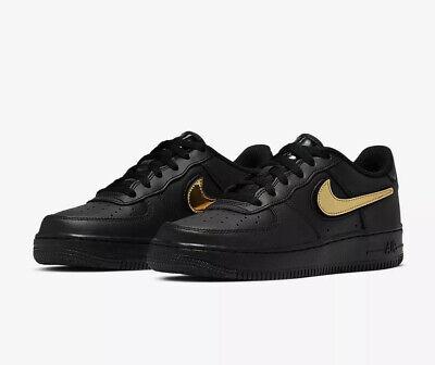 Nike Air Force 1 LV8 3 (GS) Youth AR7446 001 Noir Taille UK 6 EU 40 US 7Y NEUF | eBay