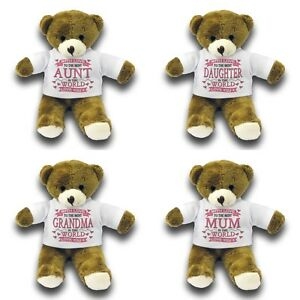 "With Love To The Best Relative In The World Cute Gift 7"" Teddy Bear Variation"
