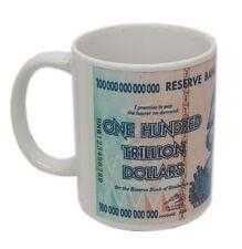 Zimbabwe Hyperinflation 100 Trillion Dollar Banknote Collector Coffee Mug w/Logo