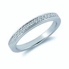 Retail £600 2mm - 1/4 Carat - 0.25 Ct Pave Set  Round Diamond Half Eternity Ring