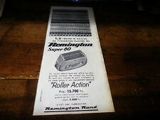 REMINGTON - SUPER 60 - ROLLER - Publicité de presse / Press advert !!! 1957 !!!