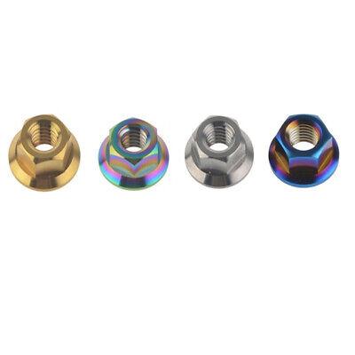 M10x1.25mm 1.5mm Pitch Titanium Sprocket Flange Bolt Nut Ti Screw Nuts Pack of 5