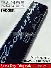 Range Rover Vogue L405 autobiografía Black Edition/Cromo Posterior Arranque Insignia