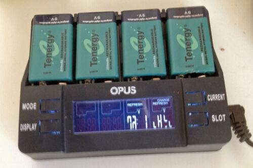 OPUS 9v Battery Charger Tester Analyzer Model Bt-c96 for NiMH NiCd 7 2v 8 4v