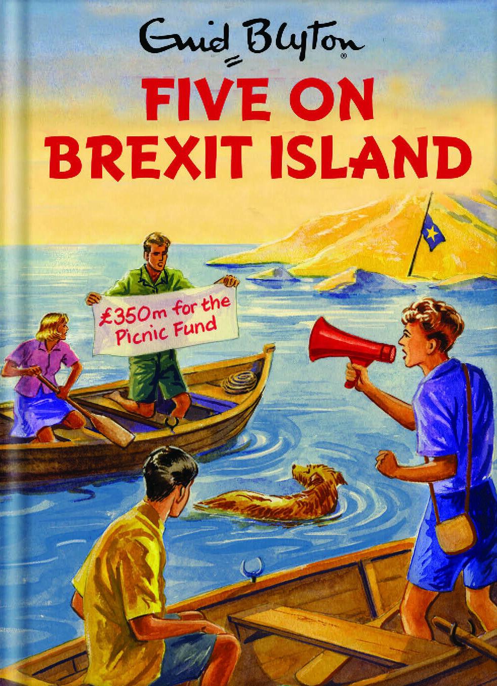 Enid Blyton Famous Five On Brexit Island Birthday Card
