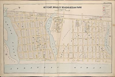 1889 KEYPORT BROWNS POINT MONMOUTH COUNTY NEW JERSEY RARITAN CEMETERY ATLAS MAP